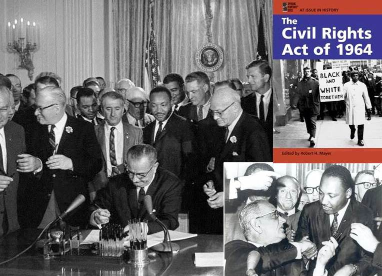 civil rights 2 The civil rights act of 1964 is federal civil rights legislation that prohibits discrimination in numerous settings including: employment, education, voting, and public accommodations see findlaw's codes section for the entire civil rights act of 1964.